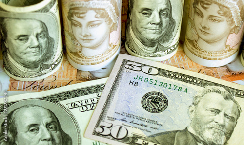 American Dollars And British Pounds