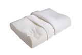 Orthopedic pillow, memory foam, Natural latex pillow on white background - 221287620