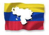 Venezuela floats above its flag - 221288656