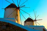 Old windmills in Mykonos - 221289264