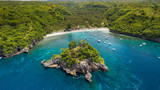 Crystal bay tropical beach in Indonesia