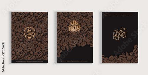 Sticker Coffee beans cover design set