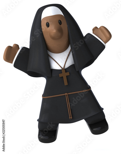 Nun - 3D Illustration