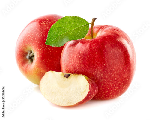 Foto Murales Red apples with slice