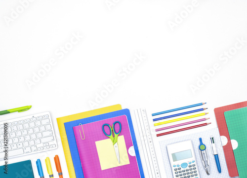 Back to school header on white background - 221309005