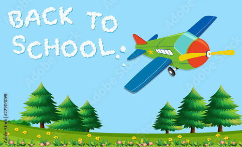 Wall mural Back to school template