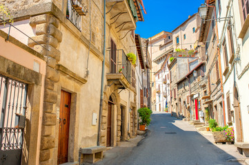 Street in the historic part of the Italian city