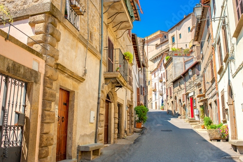 Street in the historic part of the Italian city - 221314281