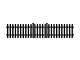 Picket Fence With Gate icon - 221314641