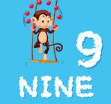 Monkey juggling nine ball - 221315072