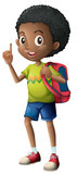 An african boy with backpack - 221315085