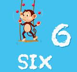 Monkey juggling six ball - 221315088
