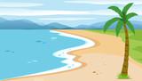 A flat beach landscape - 221315240