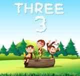 Three monkey in nature - 221315257
