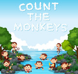Count the monkey template - 221316270