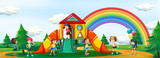 Kids playing at playground - 221316495