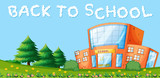 Back to school and school building - 221316609