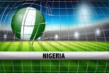 Nigeria soccer ball in goal - 221316851