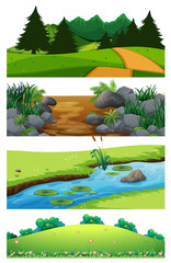 A set of beautiful landscape © GraphicsRF