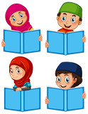 A set of muslim with book - 221317219