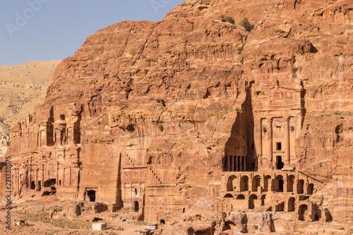 Ruins of Petra, Lost rock city of Jordan. Petra