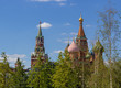 Moscow, the Kremlin, birches in the foreground
