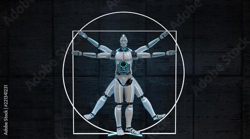 Vitruvian Robot - 221341231