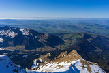 Scenery from top Mount Pilatus on a bright April Day - 221346413