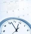 Leinwanddruck Bild - Clock and calendar