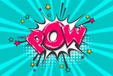 Fototapety Pow pop art comic book text speech bubble