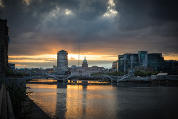 Dublin City Center at Sunset © Creative Snapshots