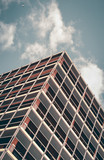 Modern Architectural steel and glass building in abstract minimal view.  - 221358468