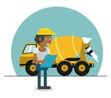 Woman worker cartoon - 221360863