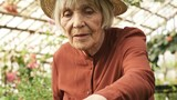 Handheld shot of senior woman in straw hat touching leaves of young plants growing in greenhouse - 221362807