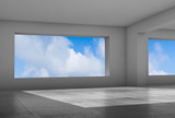 Abstract interior background, 3d render - 221369609