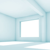White abstract interior background. 3 d render - 221369635