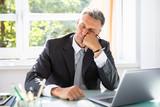 Businessman Sleeping In Office - 221370830