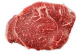 Fresh raw beef steak isolated with clipping path - 221372230