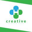 H Letter Cross Medical Logo vector Template - 221374284