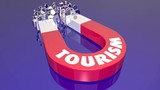 Tourism Travel Tourist Agency Magnet Pulling People 3d Animation - 221378843