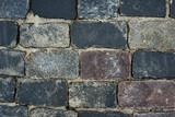 old cobblestone road for background or texture - 221389898