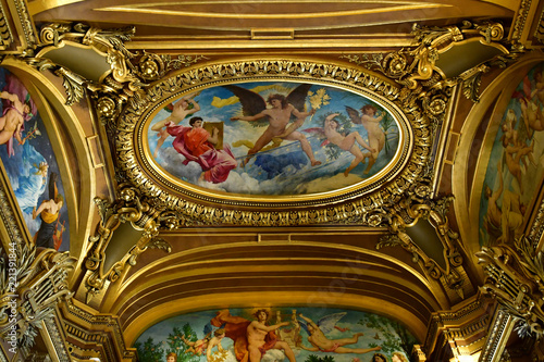 Fridge magnet  Paris; France - august 4 2018 : the Opera Garnier