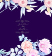 Elegant hand painted watercolor pencil rose flower - 221397668