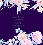 Elegant hand painted watercolor pencil rose flower