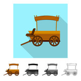 Vector illustration of farm and agriculture sign. Collection of farm and plant stock symbol for web. - 221399815