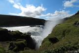 Goldifoss Waterfall in iceland: majestic nature