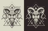Emblems with goat