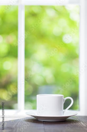 Sticker Morning coffee on the window