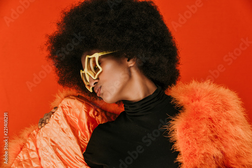 Leinwanddruck Bild Beautiful african woman studio portraits, concept about lifestyle and beauty