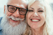 Leinwanddruck Bild - Senior couple lifestyle moments at home